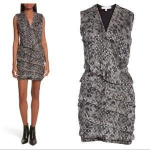 NEW IRO Corie metallic shift dress